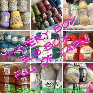 5lb Box full of yarn RANDOM MYSTERY